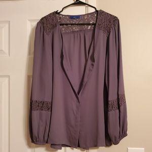 Apt 9 Lace Button Down Shirt